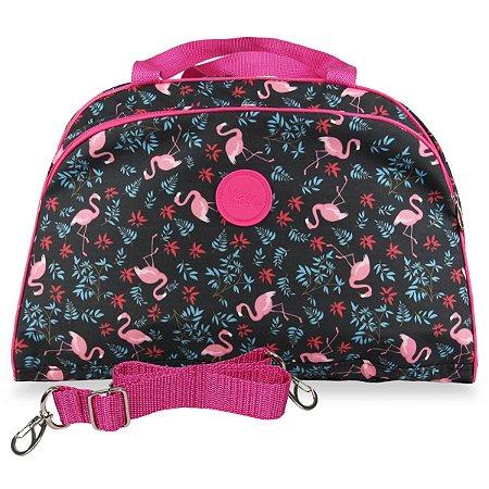 Bolsa feminina grande para viagem Flamingos