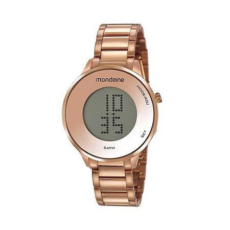 Relógio Mondaine Digital LCD Rosé