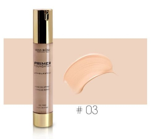 PRIME - Miss Rose face Lliquid Foundation Creme impermeável longo - 03