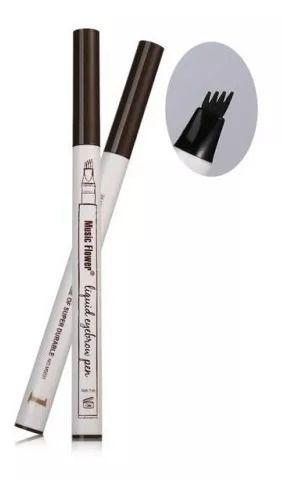 Caneta Sobrancelha Lápis Microblading Prova D'agua Maquiagem - COR PRETO