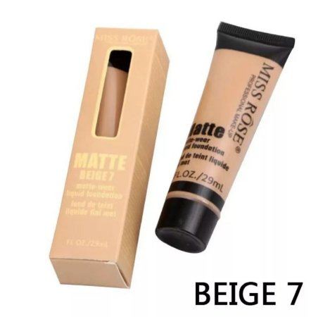 Base Matte Liquida Bisnaga Oil Free 37 Ml Beige 7 Miss Rose