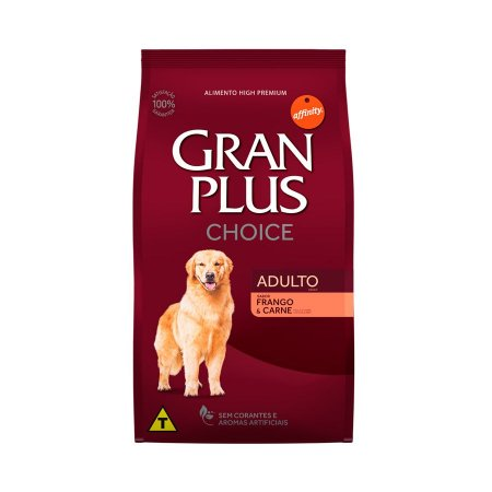 Ração Guabi GranPlus Choice Frango e Carne para Cães Adultos