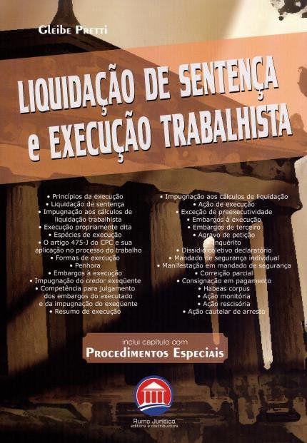 Liquidação de Sentença e Execução Trabalhista