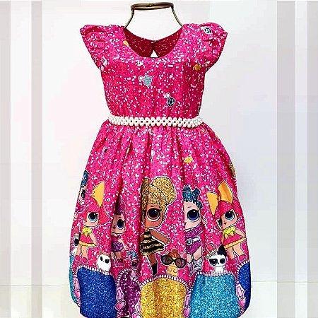 Vestido de Festa Temático da Lol Rosa