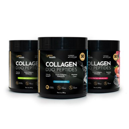 Kit 3x Collagen Duo Peptides - Verisol® - Omix