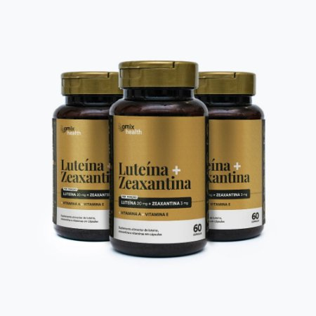 Kit 3x Luteína + Zeaxantina - 60 cápsulas - Omix