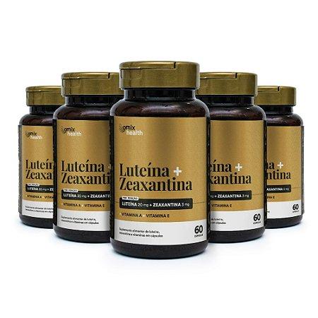 Kit 5x Luteína + Zeaxantina - 60 cápsulas - Omix