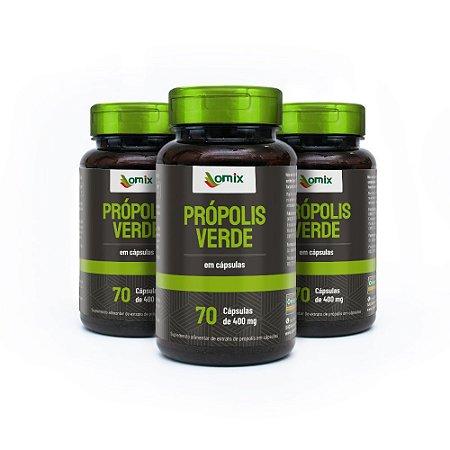 Kit 3x Própolis Verde - 70 cápsulas - Omix