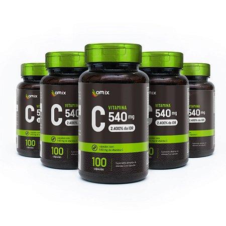 Kit 5x Vitamina C - 100 cápsulas
