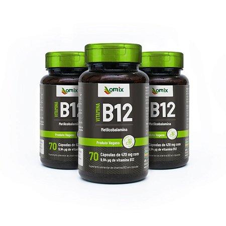 Kit 3x Vitamina B12 - 70 cápsulas