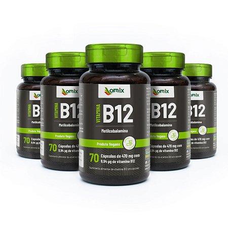 Kit 5x Vitamina B12 - 70 cápsulas