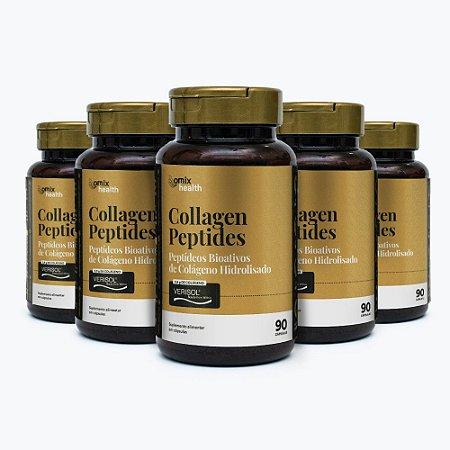 Kit 5x Collagen Peptides - Verisol® - 90 cápsulas