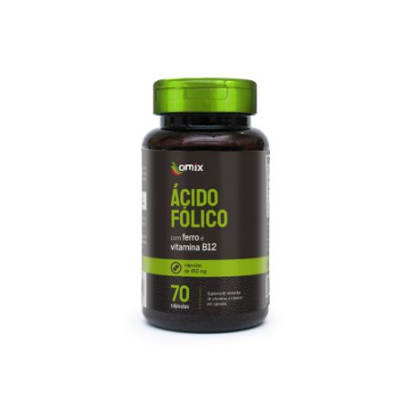 Ácido Fólico, Ferro e Vitamina B12 - 70 cápsulas