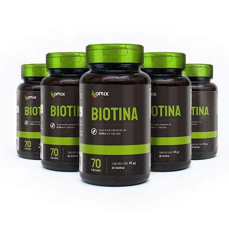 Kit 5x Biotina - 70 cápsulas
