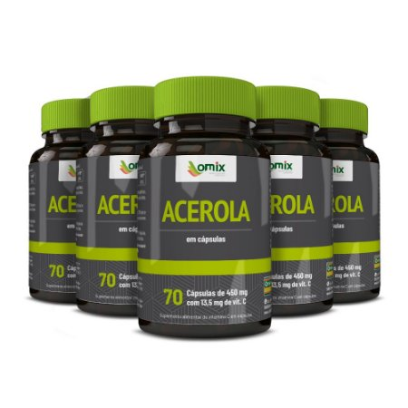 Kit 5x Acerola - 70 cápsulas