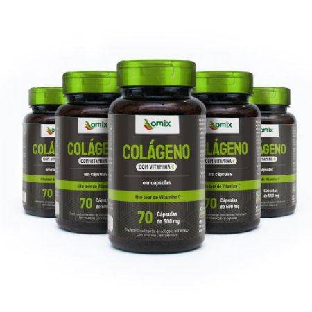 Kit 5x Colágeno + Vit. C - 70 cápsulas