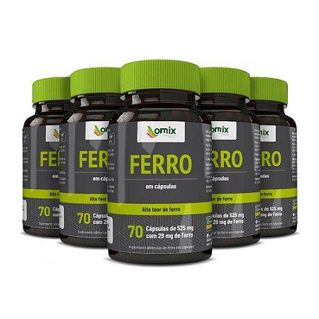 Kit 5x Ferro - 70 cápsulas