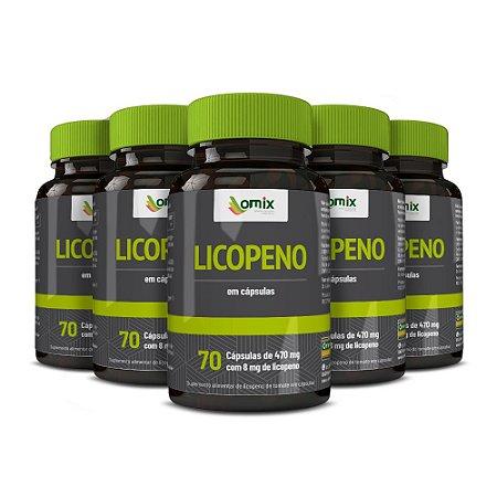 Kit 5x Licopeno - 70 cápsulas