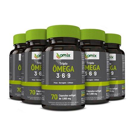 Kit 5x Triplo Omega 3-6-9 - 70 cápsulas