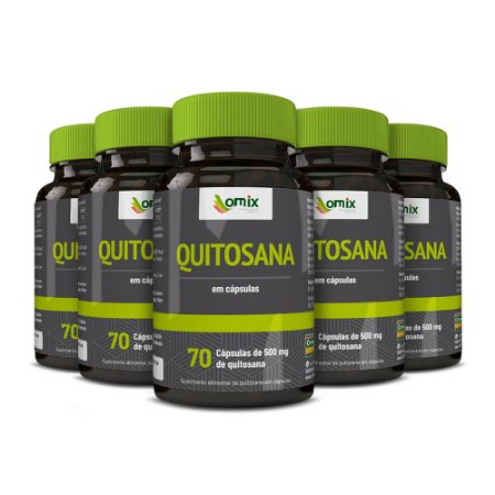 Kit 5x Quitosana - 70 cápsulas