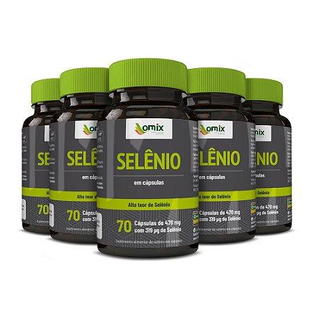 Kit 5x Selênio - 70 cápsulas
