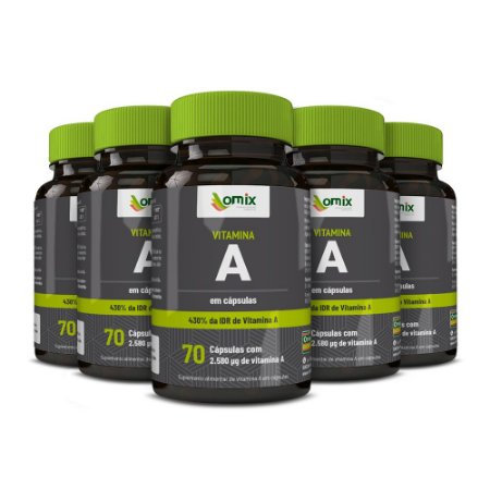 Kit 5x Vitamina A - 70 cápsulas
