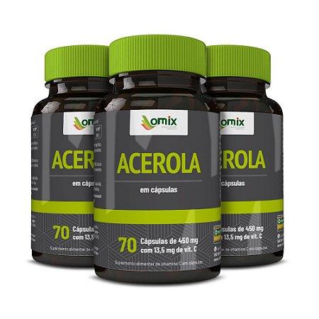 Kit 3x Acerola - 70 cápsulas