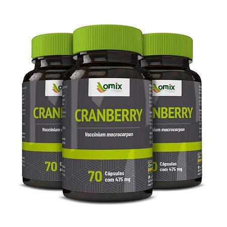 Kit 3x Cranberry - 70 cápsulas