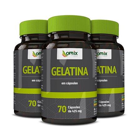 Kit 3x Gelatina - 70 cápsulas
