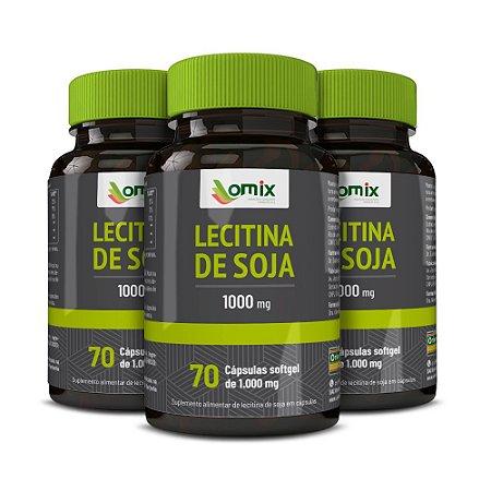 Kit 3x Lecitina de Soja (1 g) - 70 cápsulas