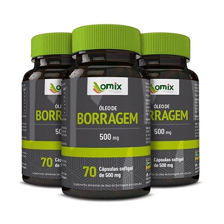 Kit 3x Óleo de Borragem (500 mg) - 70 cápsulas