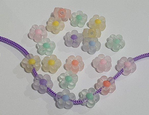 Flor Margarida com miolo Fosca - 13mm - *embalagem com 12 unidades de cores sortidas*