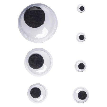 Olho Móvel - Tamanhos 5mm a 15mm - Pacote com 50 pares