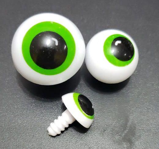 Olho de Sapo - 15mm. 20mm, 26mm - ( 15 e  20mm pacote com 5 Pares e Travas, 26mm pacote com 3 pares e travas)