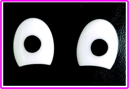 Olho meio Oval - 17 mm x 15 mm - Pacote com 5 pares e travas