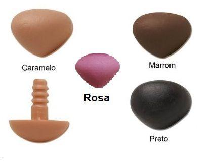 Focinho ou Fuça - Tamanhos 11 a 40 mm - Cores Preto, Rosa, Marrom, Caramelo - Pacote com 5 Unidades e Travas