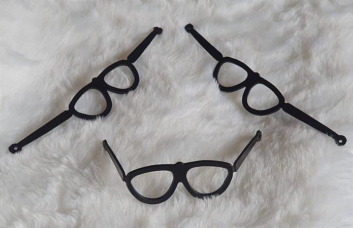 Óculos com Haste - Cor Preto - pequeno - Medidas na descrição