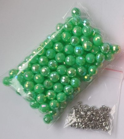 Pérola sem Furo Blobinho - 6, 8 e 10mm - Pacote com 28 gramas (acompanha rebites) *aplicação com balancim*