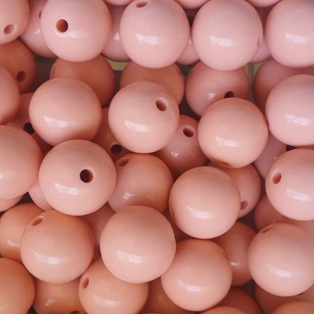 Bola Leitosa - Tamanho 18 mm - Cores: Branco, Azul, Amarelo, Rosa - Tamanho 20mm cor Verde, Rosê e amarelo- (Pacote com 8 unidades)