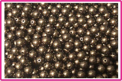 Pérola com Furo - Tamanho 12 mm - Cores: Amarelo, Creme, Cristal Brilho neon, Rosê, Bronze, Lilás, dourada - (Pacote com 20 gramas)