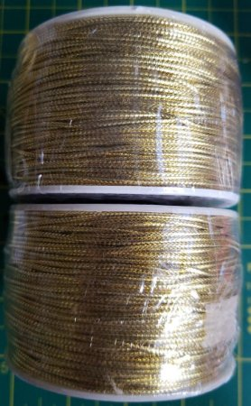 Cordão Dourado - Diâmetro 1,5 mm - (Rolo com 50 metros)