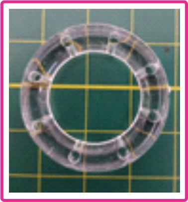 Argola Acrílica com furos - Tamanho 30 mm - 8 furos - Cor Cristal - (venda por unidade)