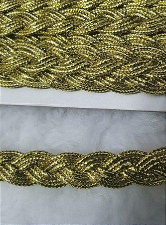 Passamanaria Dourada - 10 mm - REF: 1125 - (Venda por metro)
