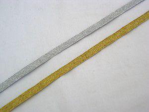 Elástico Metalizado - 6 mm - cores: Dourado ou Prateado