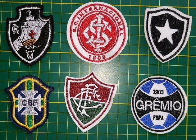 Brasões Bordados Times de Futebol - Altura Média: 5,5 cm - venda por unidade