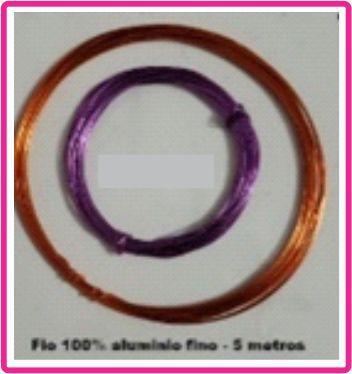 Arame de Alumínio - cores: Aleatória - Arame Fino = 1mm - (Rolo com 5 metros)