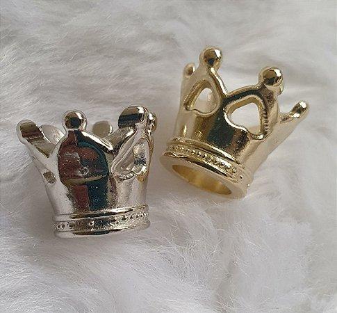 Coroa ABS -  (Tamanho: 1cmX1,2cm) Cores: Dourado ou Prateado - Pacote com 10 unidades