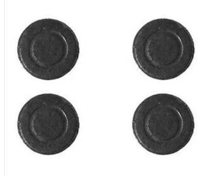 Imã (Ferrite)  moedinha - média 20x3mm - Pacote com 5 unidades