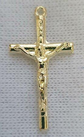 Pingente Cruz Dourada - (40x20mm)