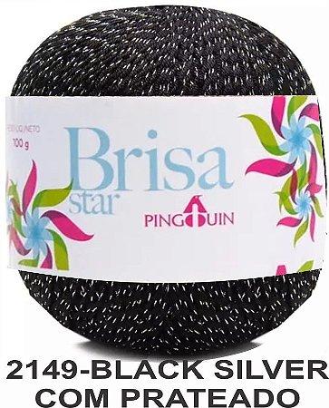 Brisa Star - 2149 - Black Silver com Prata